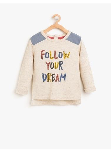 Koton Kids Koton T-Shirt Ekru
